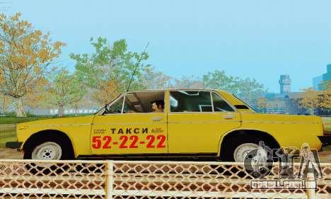 Táxi de 2106 VAZ para GTA San Andreas vista interior