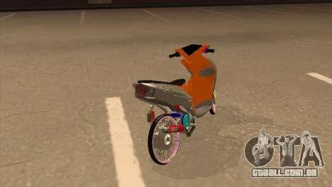Yamaha Mio Soul 2 para GTA San Andreas traseira esquerda vista