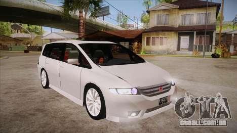 Honda Odyssey v1.5 para GTA San Andreas vista traseira