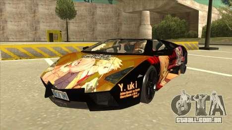 Lamborghini RR Kyoukai No Kanata Itasha para GTA San Andreas