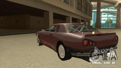 Elegy Drift Missile para GTA San Andreas vista traseira