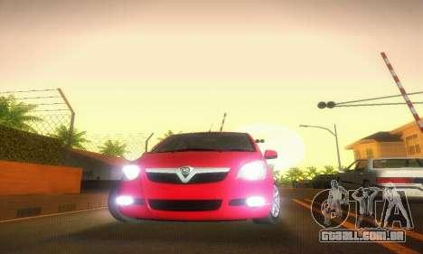 Vauxhall Agila 2011 para GTA San Andreas vista interior