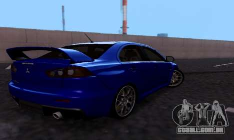 Mitsubishi Lancer Evo Drift Edition para GTA San Andreas vista direita