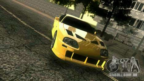 Toyota Supra TRD para GTA Vice City vista direita