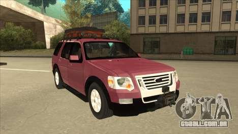 Ford Explorer 2011 para GTA San Andreas esquerda vista