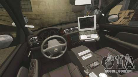 Chevrolet Tahoe 2010 PPV SFPD v1.4 [ELS] para GTA 4 vista de volta