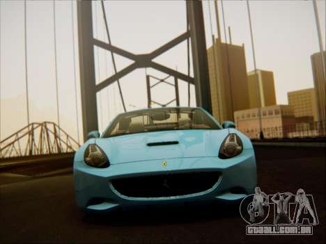 Ferrari California 2009 para GTA San Andreas vista interior