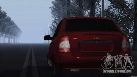 Kalina de 1118 VAZ para GTA San Andreas traseira esquerda vista