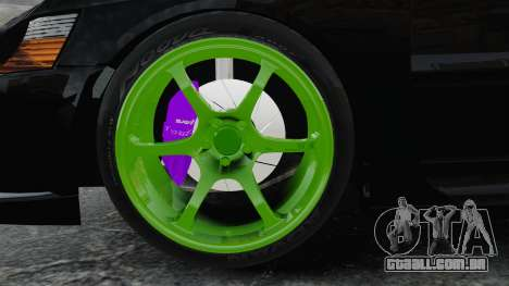 Mitsubishi Lancer Evolution VII Freestyle para GTA 4 vista de volta