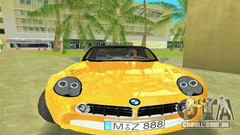 BMW Z8 para GTA Vice City vista traseira esquerda