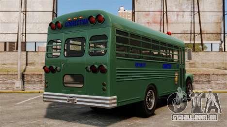 O ônibus da prisão, Nova Iorque para GTA 4 traseira esquerda vista