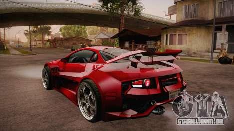 CYBORX CD 10.1s XL-SE Custom para GTA San Andreas traseira esquerda vista