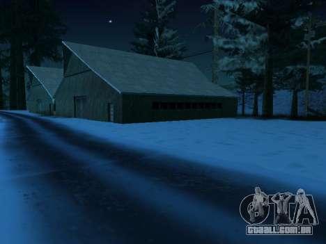 Inverno v1 para GTA San Andreas por diante tela