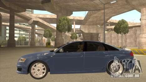 2010 Audi A6 4.2 Quattro para GTA San Andreas traseira esquerda vista