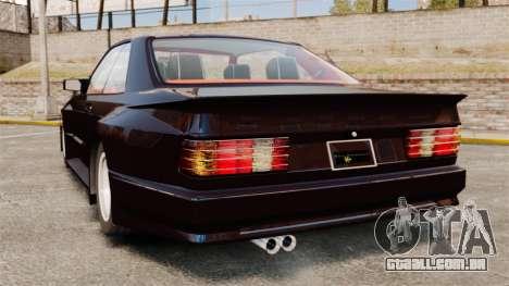 Mercedes-Benz C126 500SEC para GTA 4 traseira esquerda vista