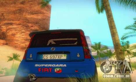 Fiat Panda Rally para GTA San Andreas vista interior