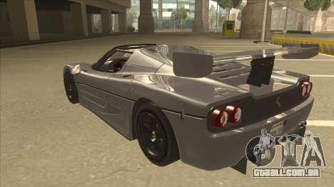 Ferrari F50 GT TT Black Revel para GTA San Andreas vista traseira