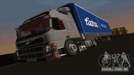Kogel trailer para Volvo FM16 para GTA San Andreas esquerda vista