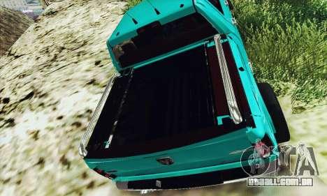 Dodge Ram 2500 HD para GTA San Andreas traseira esquerda vista