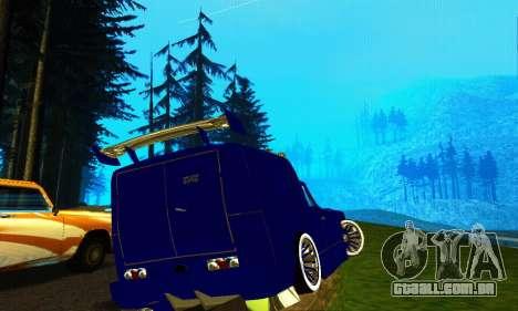 IZH 2715 Novosib Tuning para GTA San Andreas traseira esquerda vista