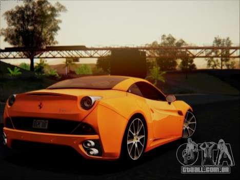 Ferrari California 2009 para GTA San Andreas vista superior