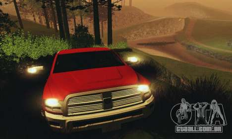Dodge Ram 2500 HD para GTA San Andreas vista superior