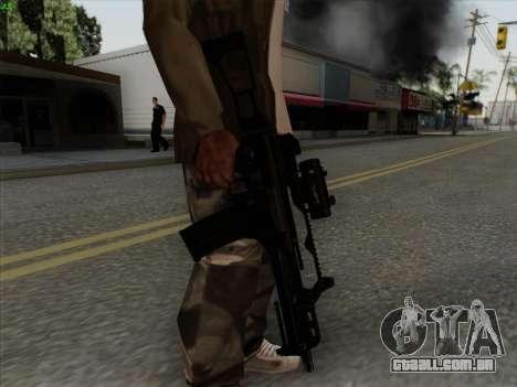 HK-G36C para GTA San Andreas por diante tela