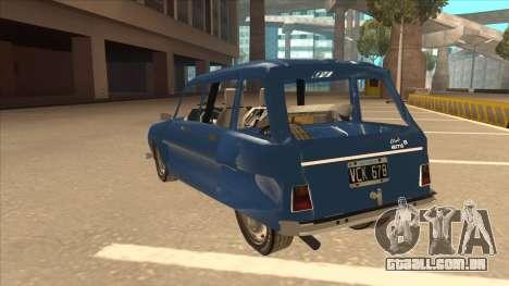 Citroën Ami 8 para GTA San Andreas vista traseira