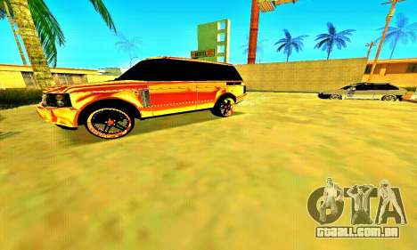 Land Rover Range Rover para GTA San Andreas esquerda vista