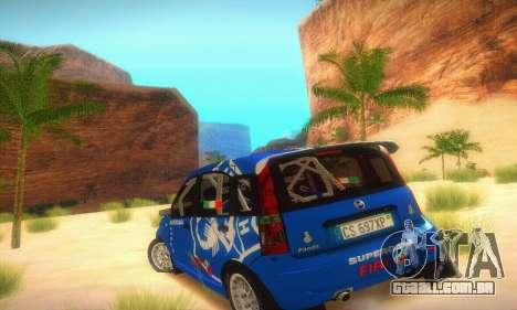 Fiat Panda Rally para GTA San Andreas vista direita