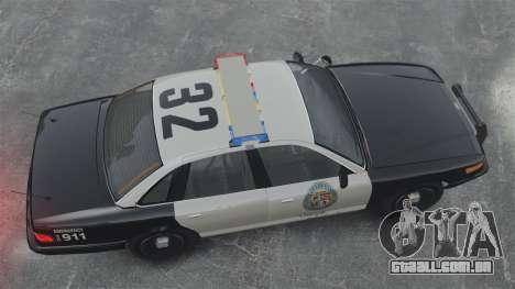 Uma viatura policial GTA V para GTA 4 vista direita