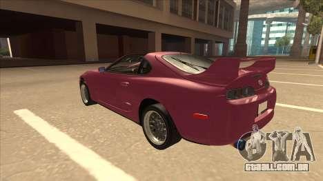 Toyota Supra MKIV para GTA San Andreas vista traseira