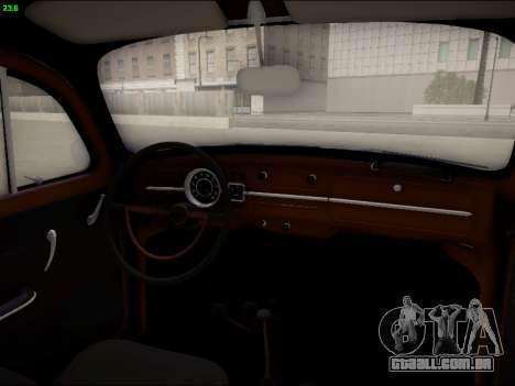 Volkswagen Beetle para GTA San Andreas vista superior