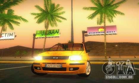Fiat Panda Taxi para GTA San Andreas vista interior