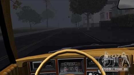 Ford Aspen 1979 para GTA San Andreas vista interior