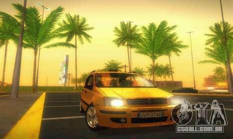 Fiat Panda Taxi para GTA San Andreas vista traseira
