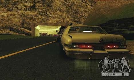 Buick Roadmaster quebrado para GTA San Andreas vista interior