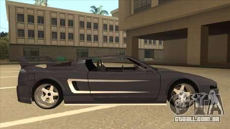 DoTeX Infernus V6 History para GTA San Andreas traseira esquerda vista