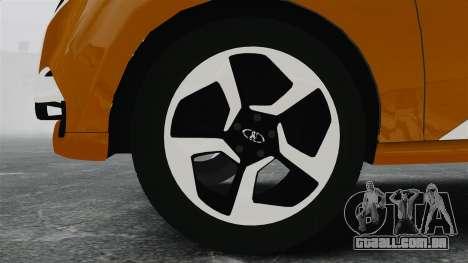 Lada XRay Concept para GTA 4 vista de volta