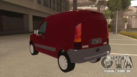 RENAULT KANGOO v1 para GTA San Andreas vista traseira