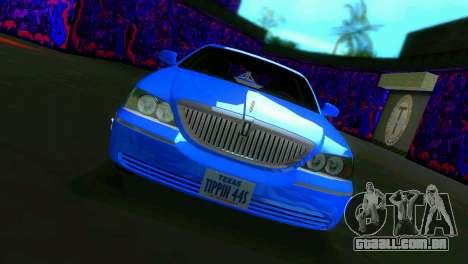 Lincoln Town Car Tuning para GTA Vice City deixou vista