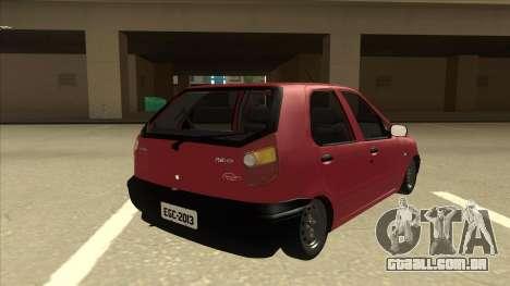 1997 Fiat Palio EDX Edit para GTA San Andreas vista direita