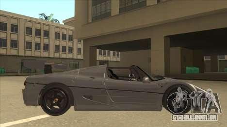 Ferrari F50 GT TT Black Revel para GTA San Andreas traseira esquerda vista