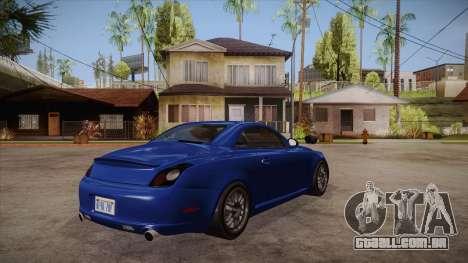 Lexus SC430 2JZ-GTE Black Revel para GTA San Andreas vista direita