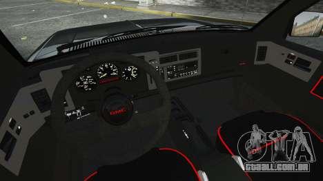 GMC Syclone 1992 para GTA 4 vista lateral