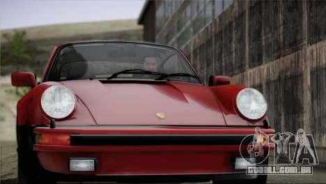 Porsche 911 Turbo 3.3 Coupe 1982 para GTA San Andreas interior