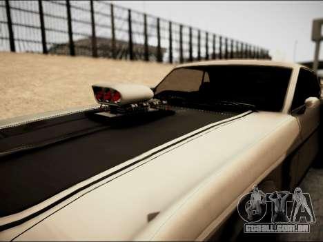 Ford Mustang Boss 302 1969 para GTA San Andreas vista traseira