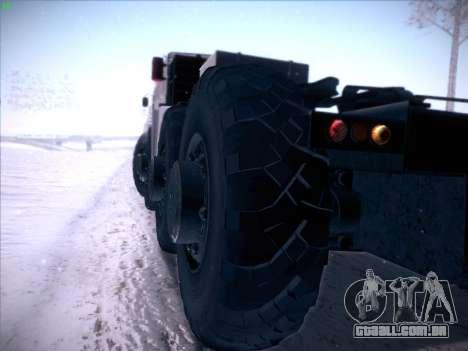 MAZ 537 para GTA San Andreas vista interior