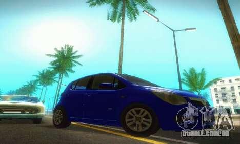 Vauxhall Agila 2011 para GTA San Andreas vista traseira