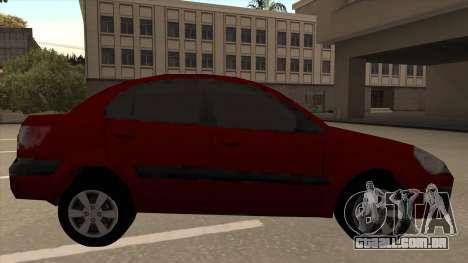 KIA RIO II para GTA San Andreas traseira esquerda vista